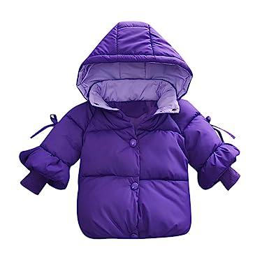 f7b8a035545f Amazon.com  Infant Baby Boys Girls Warm Coat Winter Clothes 0-2 ...