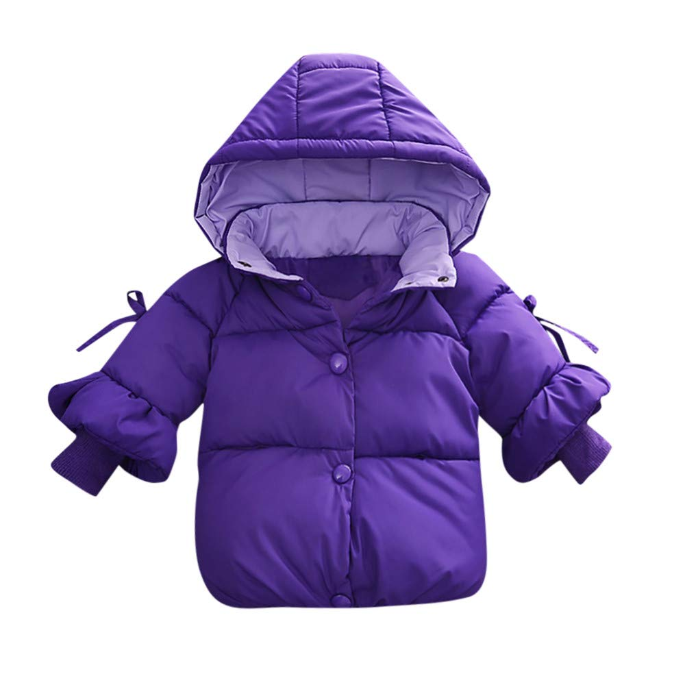 Little Girl Winter Warm Coat,Jchen(TM) Clearance! Baby Infant Girl Winter Warm Solid Color Coats Jacket Toddler Zipper Thick Hoodie Outerwear for 0-24 Months (Age: 6-12 Months)
