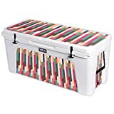 MightySkins Protective Vinyl Skin Decal for YETI Tundra 160 qt Cooler wrap Cover Sticker Skins Crazy Stripes