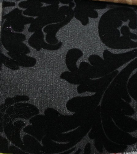 Buy damask wallpaper black