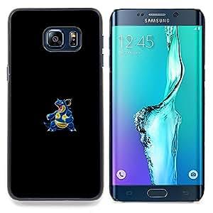 """Qstar Arte & diseño plástico duro Fundas Cover Cubre Hard Case Cover para Samsung Galaxy S6 Edge Plus / S6 Edge+ G928 (Agua Lagarto P0kemon"""")"""