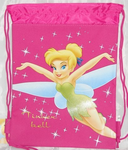(Disney Tinkerbell Drawstring Backpack in Hot Pink (Children)