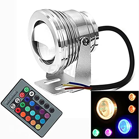 Everbright 2pcs rgb 10w underwater light colorful remote control everbright 2pcs rgb 10w underwater light colorful remote control light waterproof project fountains lamp with 1 aloadofball Images