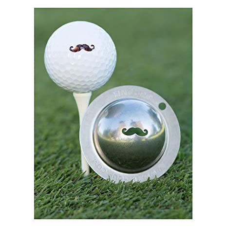 Tin Cup Stache Golf Ball Marker Amazon Co Uk Sports Outdoors