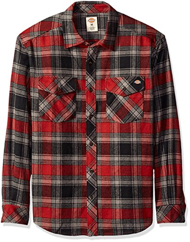 dickies-mens-relaxed-fit-long-sleeve-brawny-flannel-shirt-cinnamon-black-large-tall