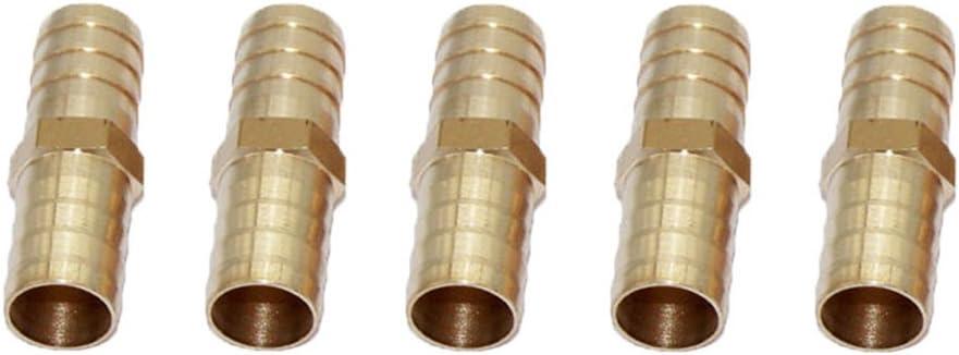 LOVIVER Raccord De Connecteur pour Coupleur De Conduite dair Comprim/é /à Lib/ération Rapide 5 Pcs 16mm-16mm 10 Pi/èces 5 Pi/èces