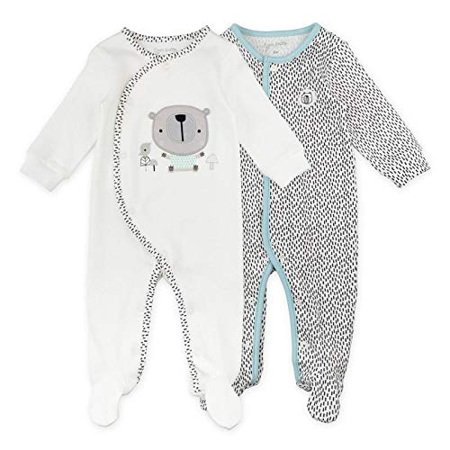 Baby Boy or Baby Girl Sleeper Set, 2-Pack Footed Sleep & Play Pajamas