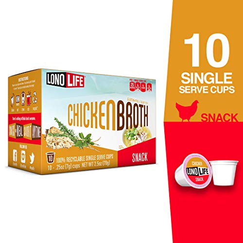 - LonoLife Chicken Broth Snack, Single Serve Cups, 10 Count