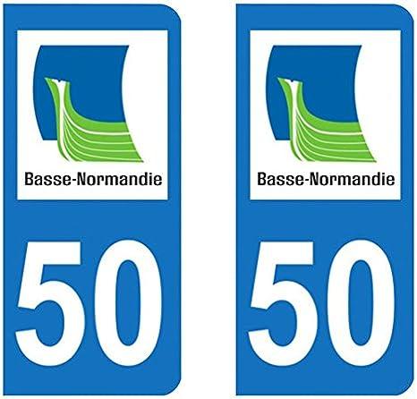 Paire Sticker immatriculation 50 Manche