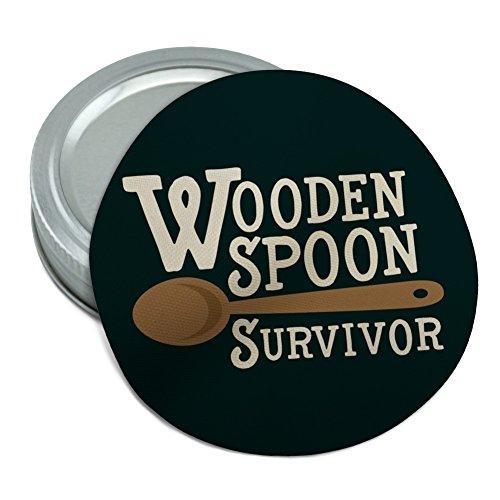 Wooden Spoon Survivor Funny Round Rubber Non-Slip Jar Gripper Lid Opener