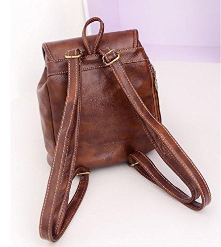 Bookbag Womens Catkit Bag Handbag Tote Style Backpack Preppy Shoulder School Vintage Brown fnBqxC