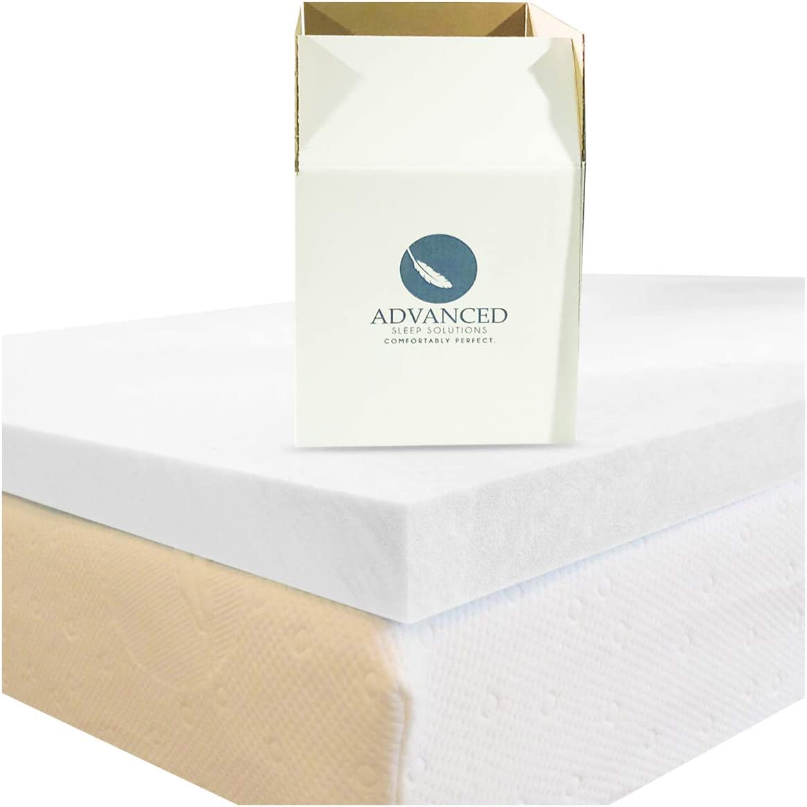 2 Inch Memory Foam Mattress Topper Twin Size