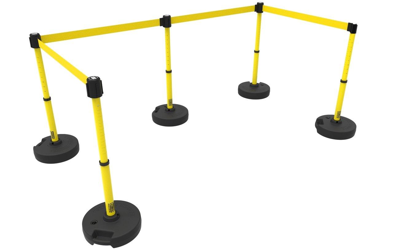 PLUS Barrier Set X5, Blank Yellow Banner PL4592
