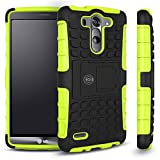 LG G3 Case, LG G3 Armor cases- Tough Armorbox Dual Layer Hybrid Hard/Soft Protective Case by Cable and Case® - Green Armor Case