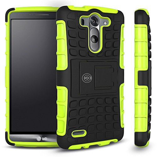 LG G3 Case, LG G3 Armor cases- Tough Armorbox Dual Layer Hybrid Hard/Soft Protective Case by Cable and Case? - Green Armor Case