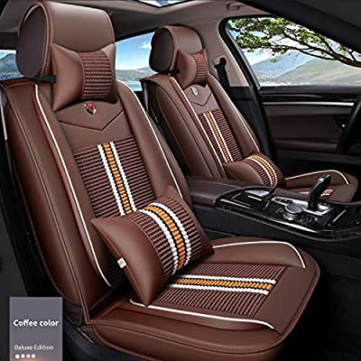 Fine Maite Pu Leather Car Seat Covers Cushions 5 Seats Full Set Gmtry Best Dining Table And Chair Ideas Images Gmtryco