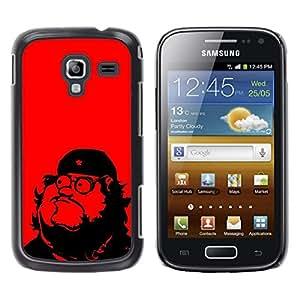 TopCaseStore / la caja del caucho duro de la cubierta de protección de la piel - Che Guevara Parody Art Communism Red Star - Samsung Galaxy Ace 2 I8160 Ace II X S7560M