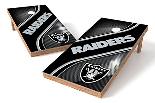 PROLINE NFL Oakland Raiders 2'x4' Cornhole Board Set - Swirl Design