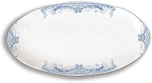 Antique Scroll Michel Design Works Melamine Oval Serving Platter