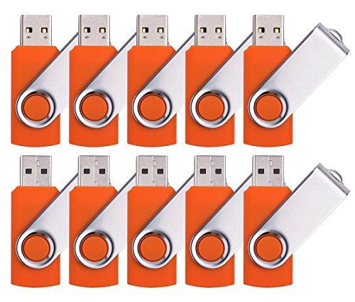 Price comparison product image 10 X Yonger 16G USB Flash Drive Foldable USB 2.0 Memory Stick Orange