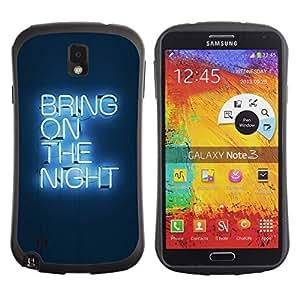"Hypernova Slim Fit Dual Barniz Protector Caso Case Funda Para Samsung Note 3 [Partido luz de neón Cita""]"