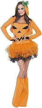 NET TOYS Traje de Halloween de Calabaza para Mujer Disfraz ...