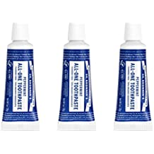 Dr. Bronners All-One Toothpaste, Peppermint - 1 Ounce Travel Size (Pack of 3)