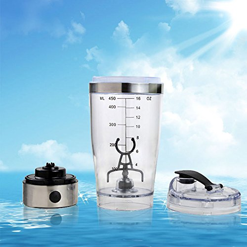 7LMIXX Ultimate Stainless Steel Vortex Electric Shaker Bottle Mixer USB Rechargeable BPA-free & Leak-proof Protein Cocktail Blender - 1 Bottle