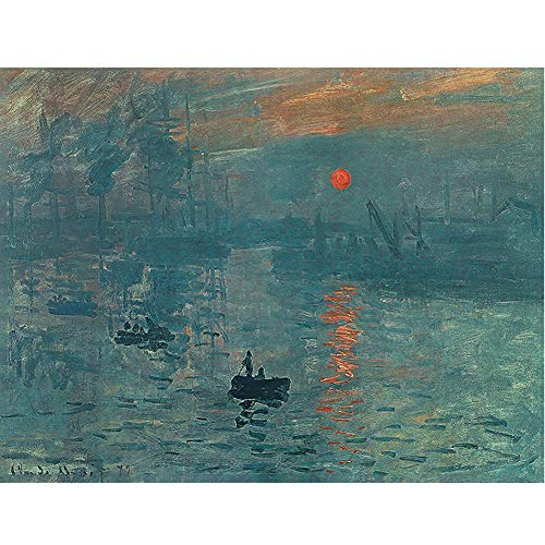 Poster Vintage Poster Famous Painting World Retro Antique Nursery Decal Wallpaper Poster Baby Mural Home Family Office Art Collection Living Room Bedroom Collection Poster (Sunrise Claude Monet) ()