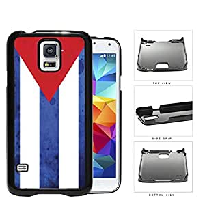 Cuba Flag Red Triangle and White Blue Stripes Grunge Hard Snap on Phone Case Cover Samsung Galaxy S5 I9600