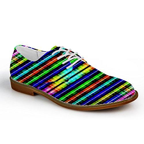 Idea Abbracci Classico Bianco E Nero Mens Oxford Flats Stringate Scarpe Colore Luminoso 1