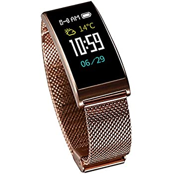 Fitness tracker X3, Smart Watch with IP68 Waterproof, Bluetooth Smartwatch with Blood Pressure/Heart Rate Monitor for Android and iOS, Health Sport ...