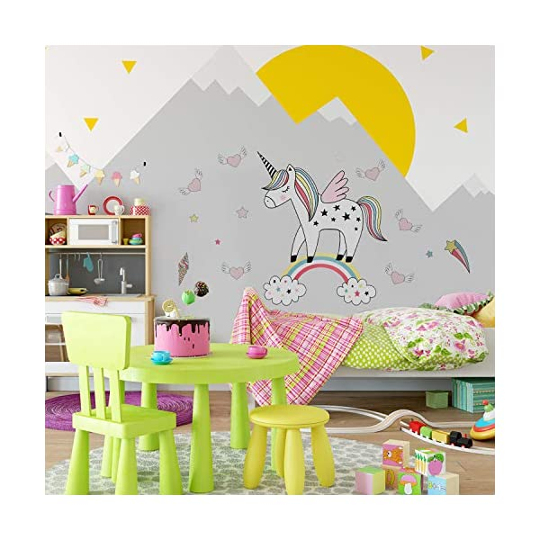 Unicorn Wall Decals Decor Stickers Large Gifts for Kids Teen Girls Boys Rooms Bedroom Nursery Bedding 5