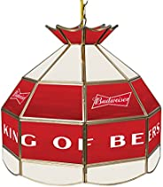 Trademark Gameroom Budweiser 16 Inch Handmade Stained Glass Lamp - Bow Tie