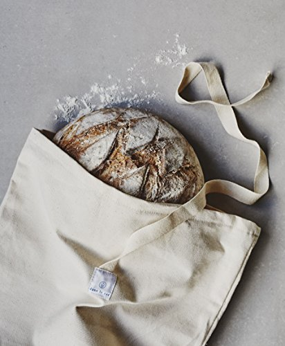 100% Cotton Reusable Bread Bag ideal for Transport Food Storage Bag 100% Natural Fiber Great Gift Idea Bakery Bag Pack (2)