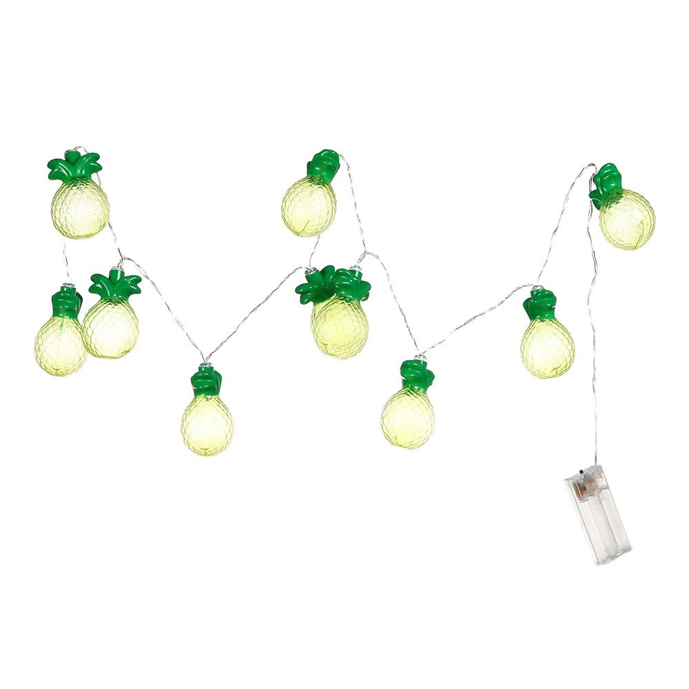 Ouniman LED String Lights Outdoor Hanging String Lights for Tropical Theme Party Festival Decorations, Pineapple String Lights,