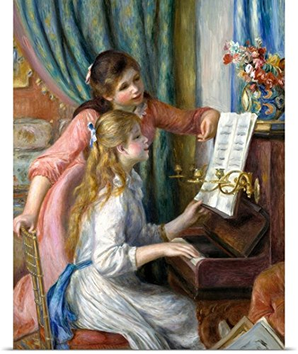 Poster Print entitled Two Young Girls at the Piano by Pierre Auguste Renoir (Renoir Young Girl)