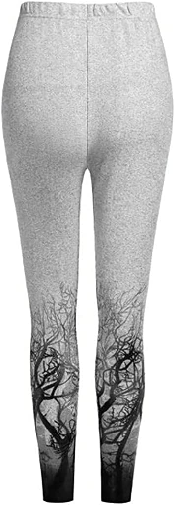 Womens 3D Printing Stretch Tights Casual Elastic Workout Leggings Skinny Yoga Pants Trousers