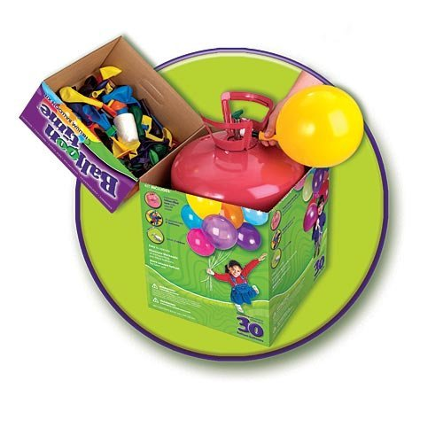 Balloon Time Helium Tank with 30 Balloons (Portable Helium Tank)