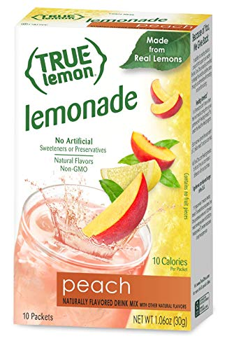 (True Lemon Peach Lemonade 10 Count (Packaging may vary))