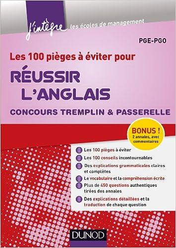 Livres audio gratuits à télécharger Les 100 pièges à éviter pour Réussir l'Anglais - Concours Tremplin et Passerelle ePub 2100589105