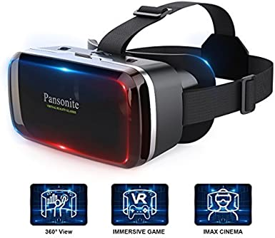 Pansonite Premium 3D VR gafas con lentes ajustables y correa para la cabeza, más ligero y