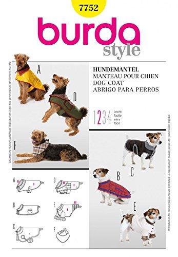 (Burda Accessories Dog Coats Sewing Pattern-7752)