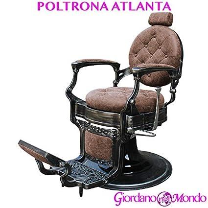 sillón barbero con Respaldo reclinable y Reposacabezas ...