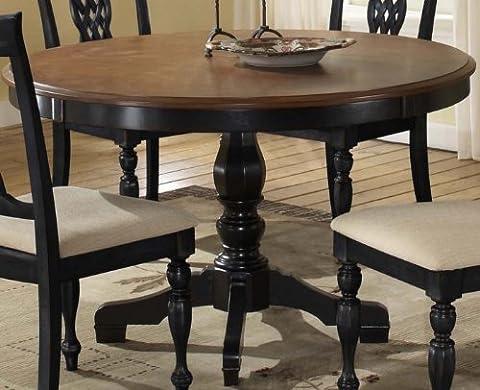 Hillsdale Embassy Pedestal 48x48 Round Dining Table - 48 Round Pedestal Dining Table