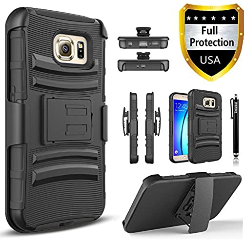 Galaxy S8 Plus Case, Dual Layers [Combo Holster] Case And Built-In Kickstand Bundled with Hybird Shockproof And Circlemalls Stylus Pen[Black] Sales