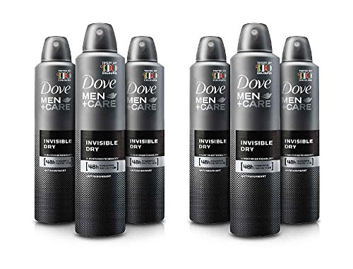 Dove Men Care Invisible Dry Spray Deodorant (3.8 oz, 6 pk.) (Best Men's Deodorant No Stain)