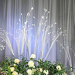 Vicanba Artificial & Dried Flowers - 10pcs Artificial Flower Bouquets Wedding Bridal White Peacock Props Phoenix Feather Flying Grass - Artificial Flowers Dried 63