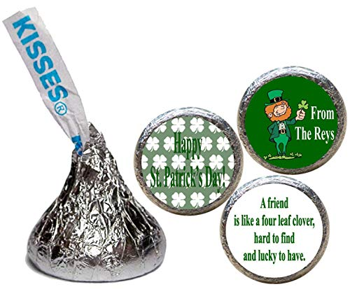 St. Patrick's Day Stickers for the Bottom of Chocolate Kisses (Set of ()