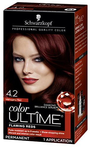 - Schwarzkopf Color Ultime Permanent Hair Color Cream, 4.2 Mahogany Red